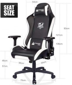 Chaise gaming fait de matériau en cuir PU de qualité supérieure