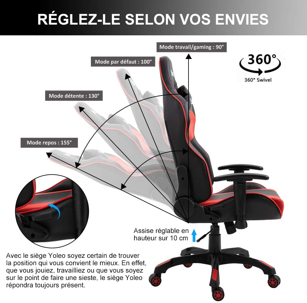 chaise gaming de Yoleo