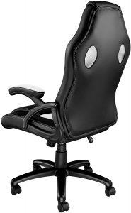 Chaise gaming robuste, réglable et dotée de roulettes anti-dérapantes