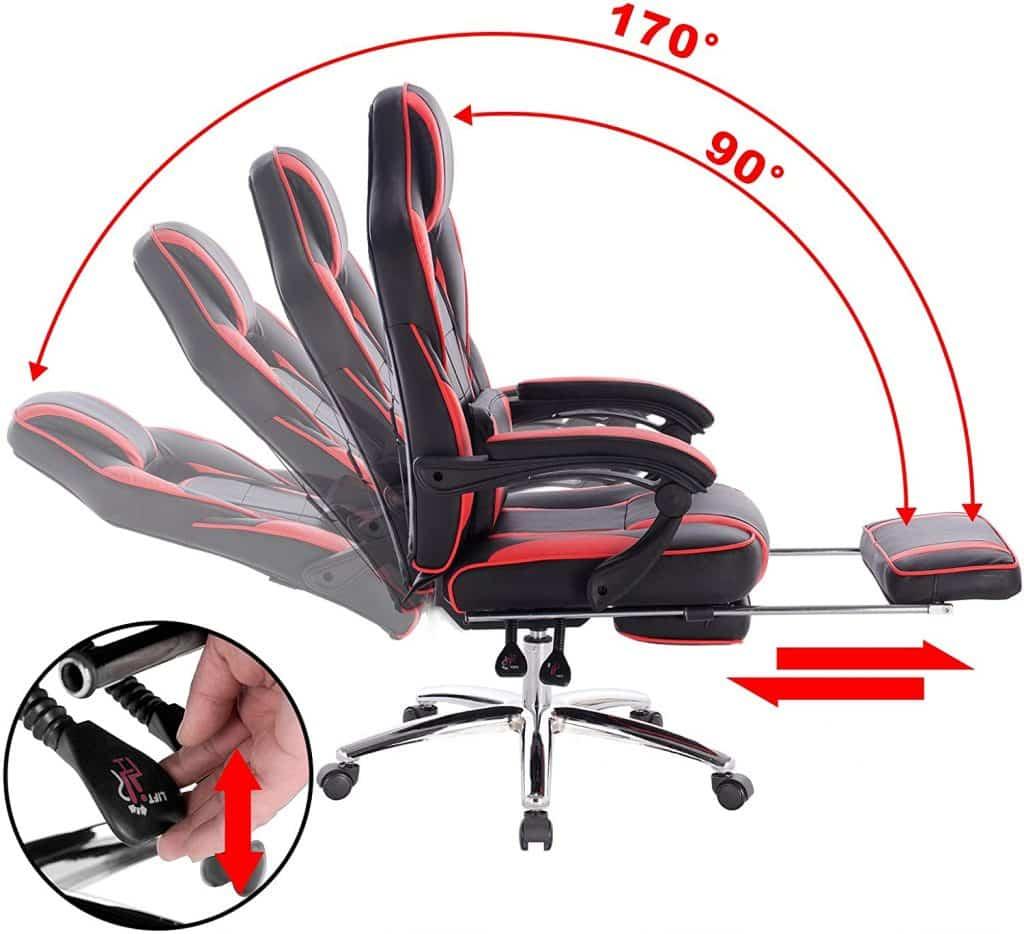 Chaise gamer durable et confortable parfait pour le bureau et le jeu