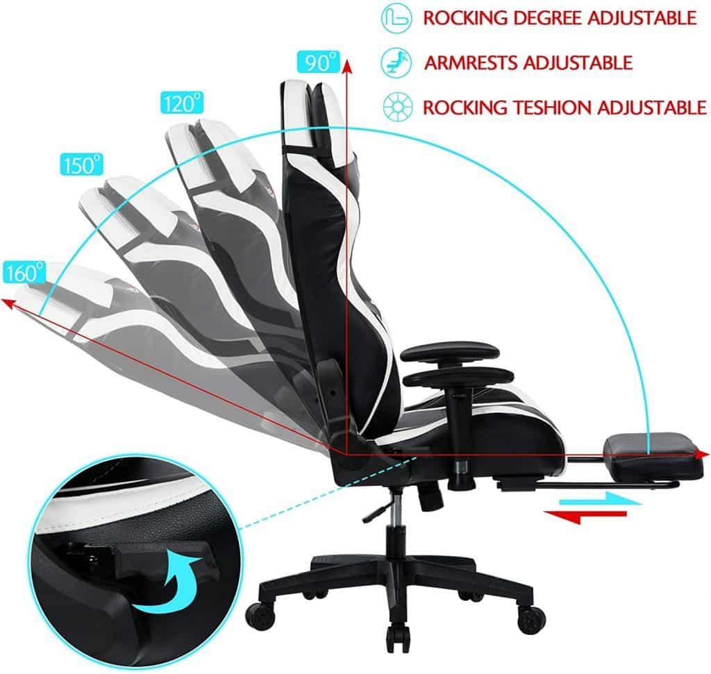 Chaise gaming très confortable conçue spécialement pour les personnes de grande taille