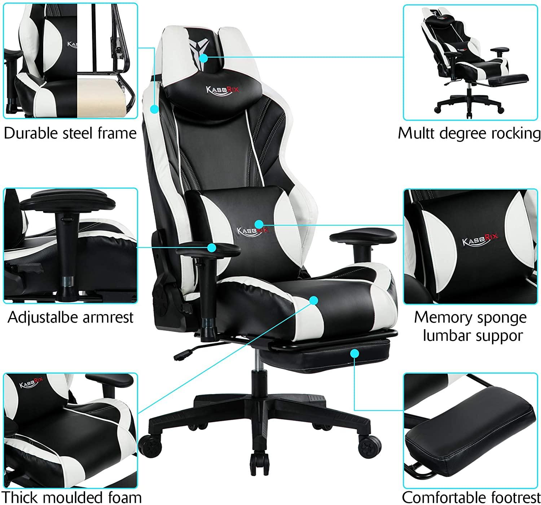 chaise de jeu robuste s'adaptant à une large gamme de taille